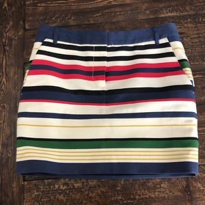 J. Crew mini striped skirt with pockets